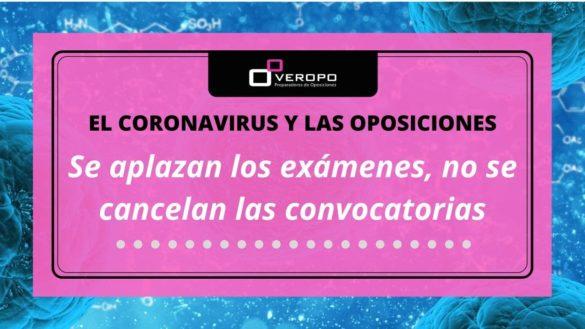Suspensión de exámenes de oposiciones por el coronavirus