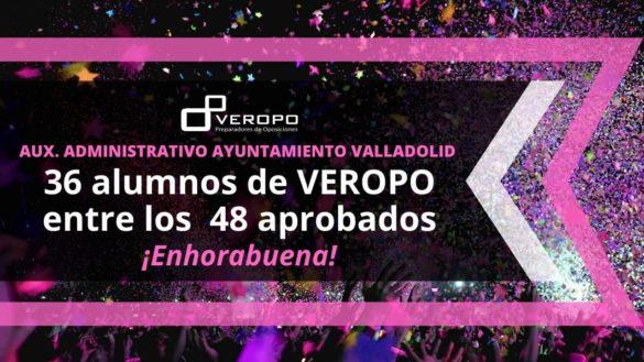 Aprobados segundo examen Aux. Admin Ayto Valladolid